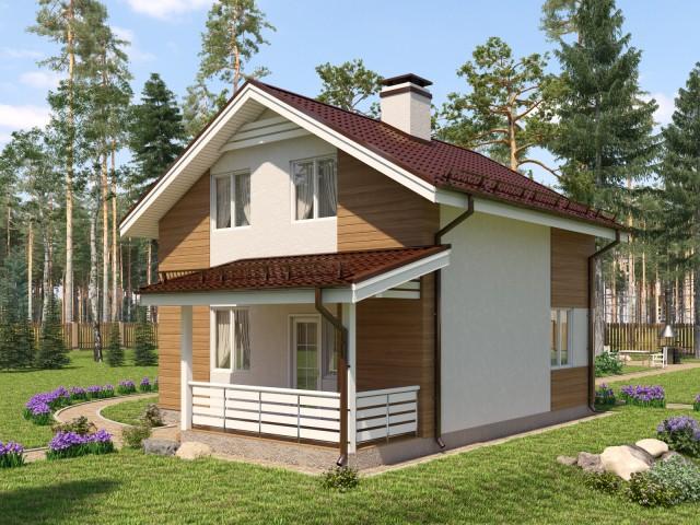 """Проект дома """"Уютный"""" 108м2"""